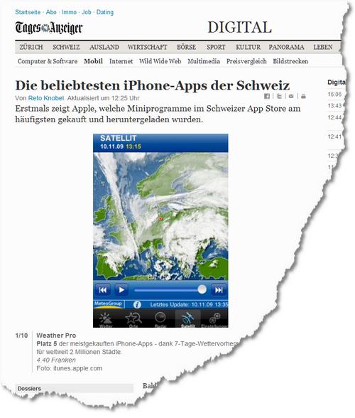 Die beliebtesten iPhone-Apps der Schweiz - News Digital- Mobil - tagesanzeiger