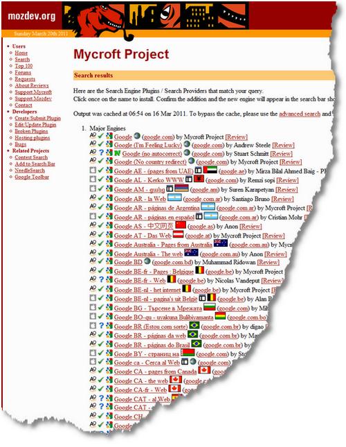 Mycroft Project- Google Search Engine Plugins - Firefox & IE8 1300621623897